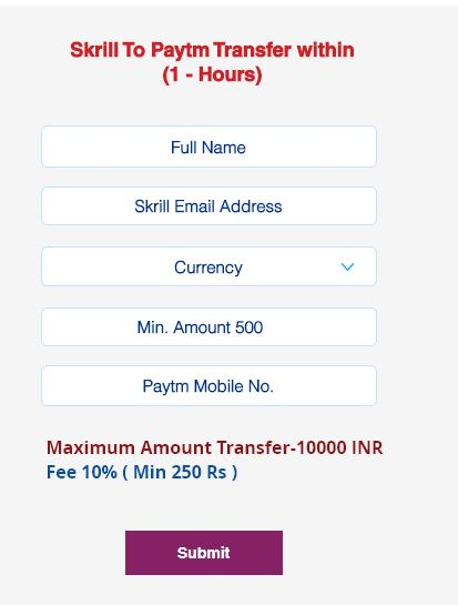 transfer money from skrill to paytm
